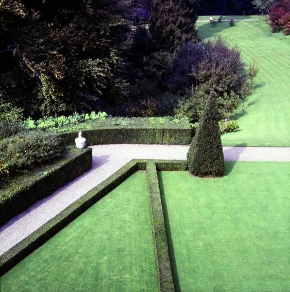 Ornamental Plant Photograph - Garden Of Villa Agnelli by Horst P. Horst