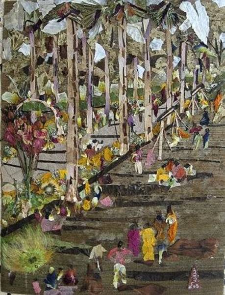 Eco Friendly Mixed Media - Garden Picnic by Basant Soni