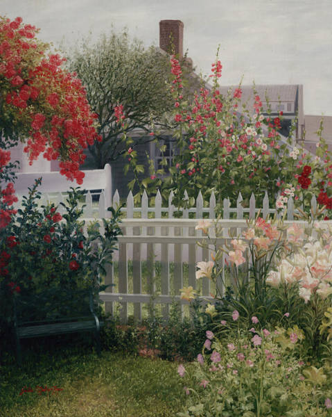 Cape Cod Painting - Garden Solitude by Julia O'Malley-Keyes