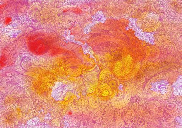 Organic Garden Drawing - Garden - #ss14dw085 by Satomi Sugimoto