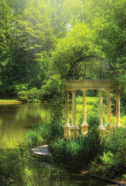 Photograph - Garden - The Temple Of Love by Mike Savad