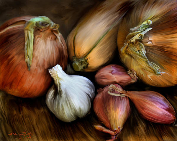Painting - Garden Vegetables  by Sharon Beth