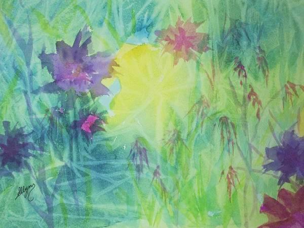 Wall Art - Painting - Garden Vortex by Ellen Levinson