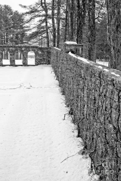 Photograph - Garden Wall The Mount In Winter by Edward Fielding