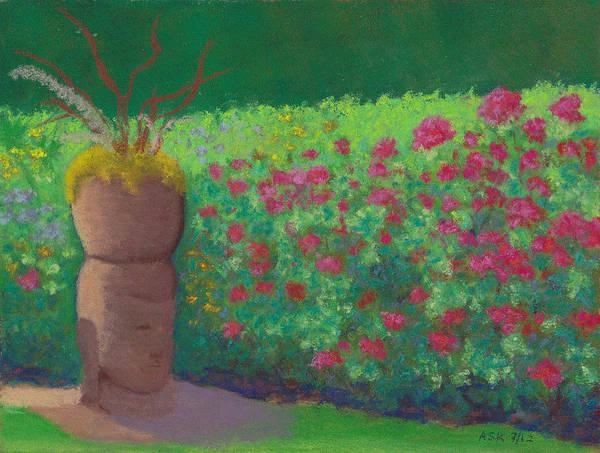 Pastel - Garden Welcoming by Anne Katzeff