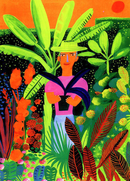 Lifestyles Digital Art - Gardener Holding Potted Plant In by Christopher Corr