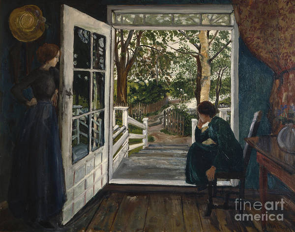 Nikolai Astrup Painting - Gardenroom Door by Nikolai Astrup