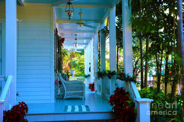 Photograph - Gardens Hotel Porch In Key West by Susanne Van Hulst