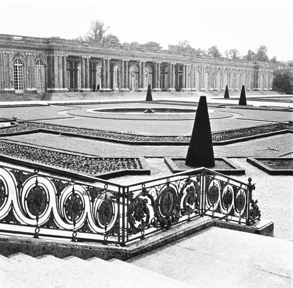 Lawn Photograph - Gardens Of The Grand Trianon by Horst P. Horst