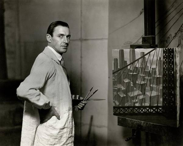 Visual Arts Photograph - Gardner Hale In Front Of A Painting by Paul Hansen
