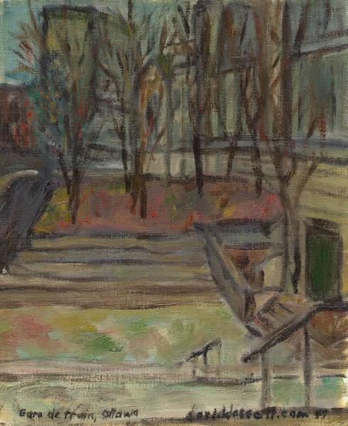 Gare Painting - Gare De Train by David Dossett