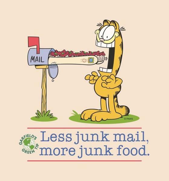 Wall Art - Digital Art - Garfield - Less Junk Mail by Brand A