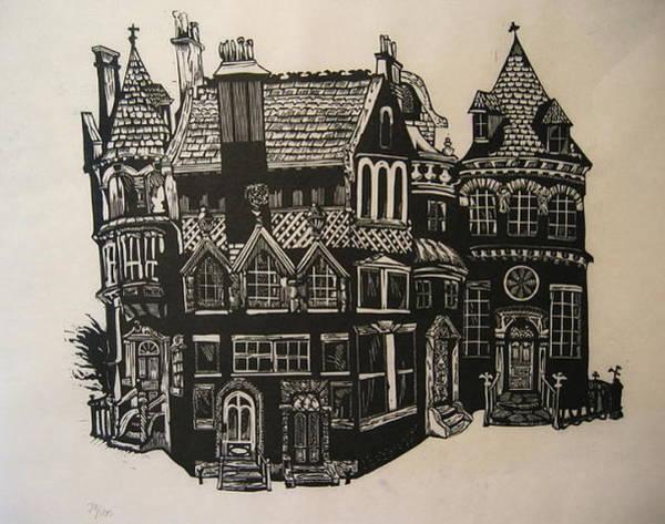Mansion Mixed Media - Gargoyle And Five Doors by Edward McCluney