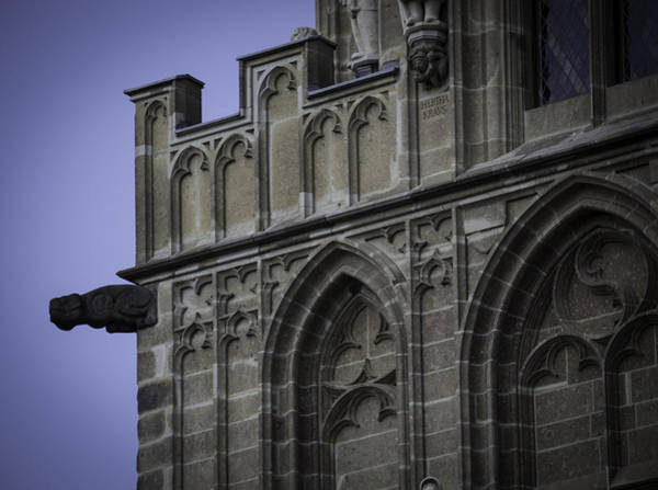 Glockenspiel Photograph - Gargoyle On Rathaus Cologne Germany by Teresa Mucha