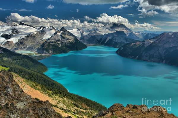 Garibaldi Lake Blues Greens And Mountains Art Print