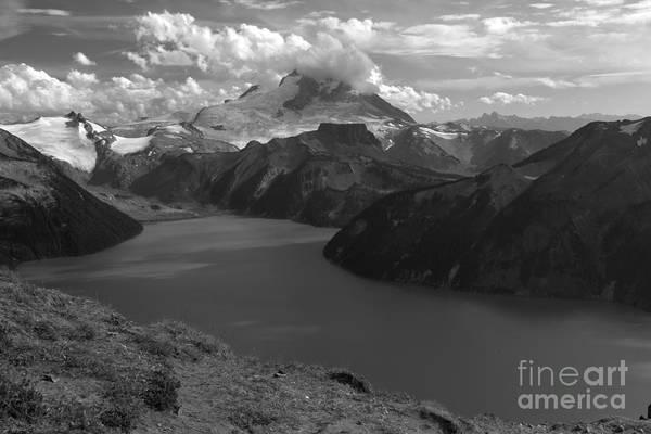 Photograph - Garibaldi Panorama Overlook In Black And White by Adam Jewell