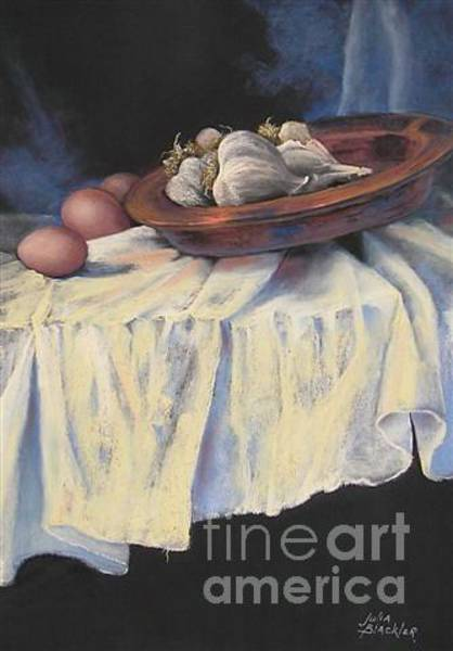 Painting - Garlic And Eggs by Julia Blackler