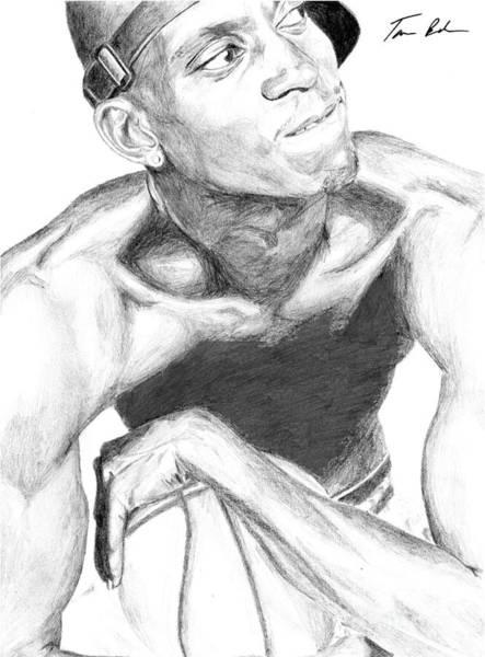 Nba Drawing - Garnett 2 by Tamir Barkan