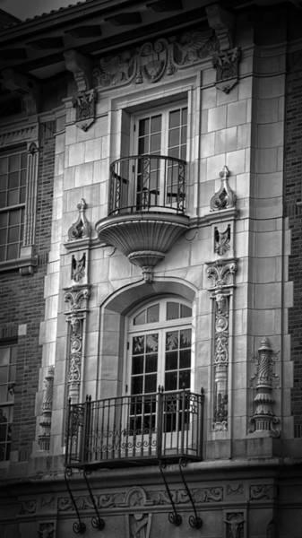 Photograph - Garrison Hall Window Ut Bw by Joan Carroll