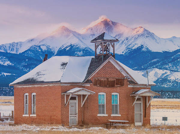 Continental Divide Photograph - Gas Creek School by Bridget Calip