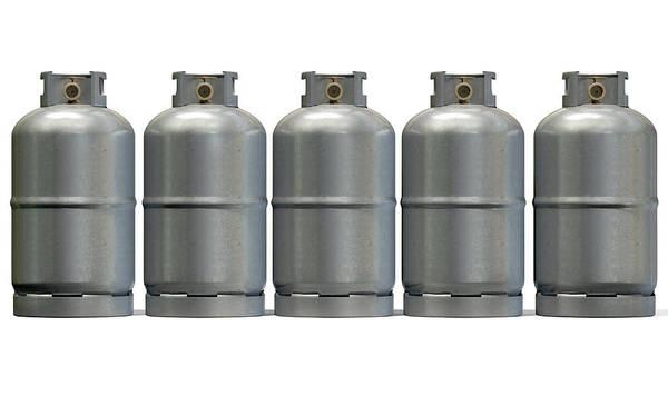 Wall Art - Digital Art - Gas Cylinder Row by Allan Swart