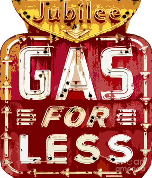 Painting - Gas For Less by David Lloyd Glover