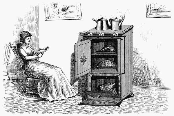 1880 Drawing - Gas Stove, 1880 by Granger