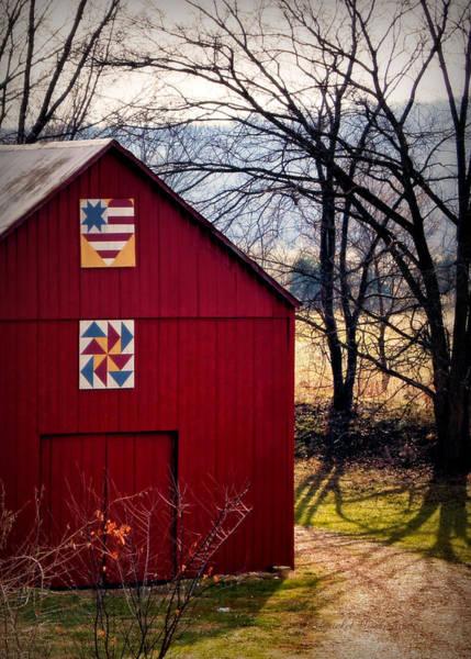 Photograph - Gasconade Double Quilt Barn by Cricket Hackmann