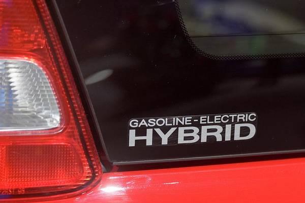 Detroit Auto Show Photograph - Gasoline-electric Hybrid Car by Jim West