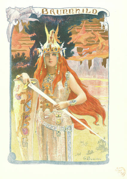 Wall Art - Drawing - Gaston Bussière French, 1862–19281929. Brunhilde by Litz Collection