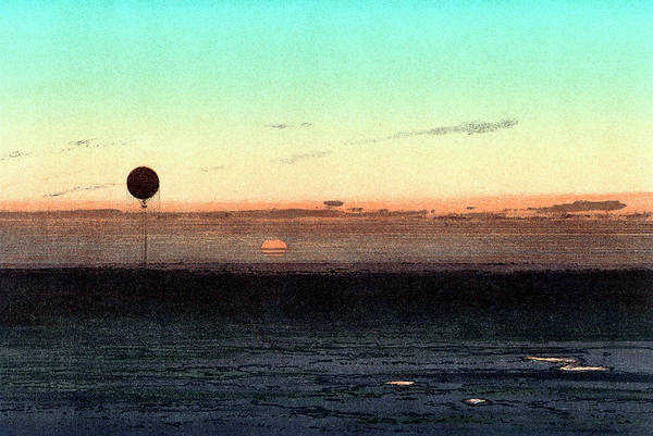 Physique Photograph - Gaston Tissandier's Balloon Silhouette by Universal History Archive/uig