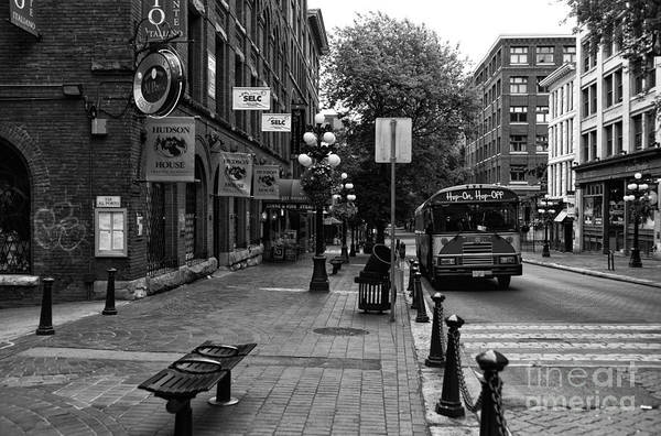 Autobus Photograph - Gastown Neighborhood Walk by John Rizzuto