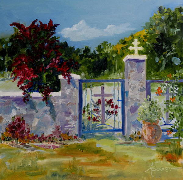 Painting - Gate At Tharri Monastery - Rhodes by Adele Bower