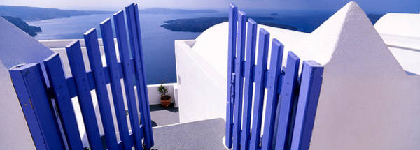 Greece Wall Art - Photograph - Gate At The Terrace Of A House by Panoramic Images