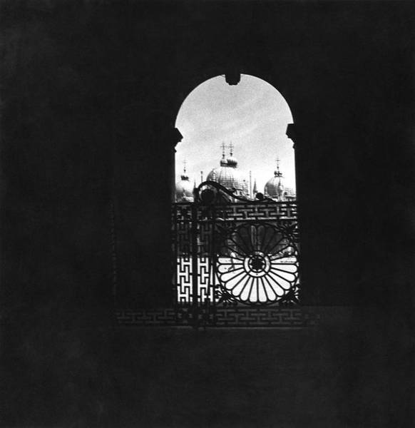 Silhouette Photograph - Gate By Piazza San Marco by Horst P Horst