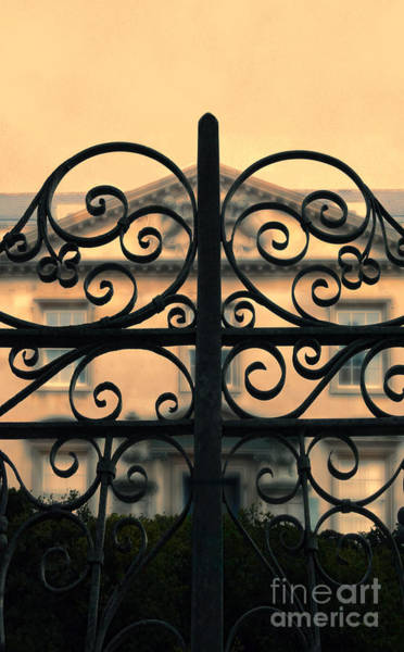 Wall Art - Photograph - Gate In Front Of Mansion by Jill Battaglia