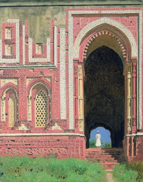 Muslim Photograph - Gate Near Kutub-minar, Old Delhi, 1875 Oil On Canvas by Vasili Vasilievich Vereshchagin