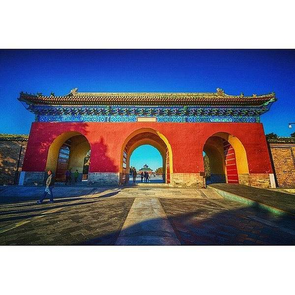 Sunny Wall Art - Photograph - Gate To Imperial Walkway In Temple Of by Sunny Merindo