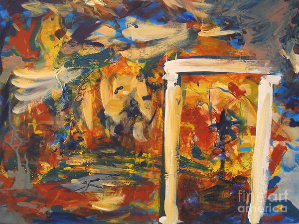Wall Art - Painting - Gate To Paradise by Fereshteh Stoecklein