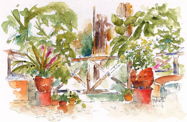 Painting - Gate To The Fountain San Miguel by Pat Katz