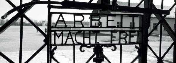 Holocaust Photograph - Gate With Inscription Arbeit Macht by Panoramic Images