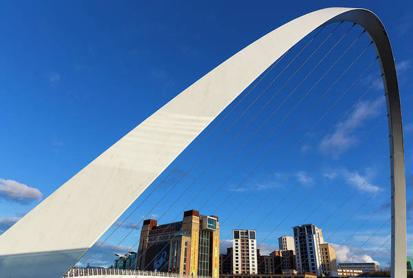 Gateshead Millennium Bridge Photograph - Gateshead Millennium Bridge And Baltic by Future Light