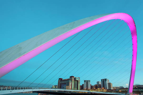 Gateshead Millennium Bridge Photograph - Gateshead Millennium Bridge In Newcastle by Tony Burns