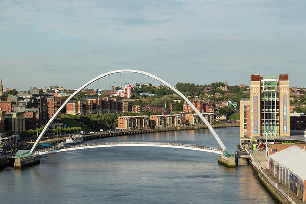 Gateshead Millennium Bridge Photograph - Gateshead Millennium Bridge, Newcastle by P A Thompson