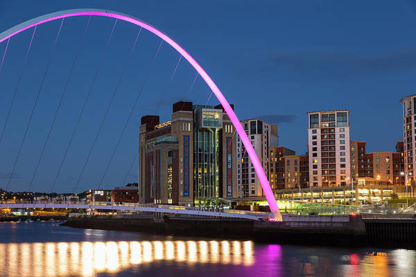 Gateshead Millennium Bridge Photograph - Gateshead Millennium Bridge by P A Thompson