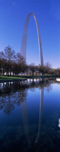 Wall Art - Photograph - Gateway Arch Reflecting In The River by Panoramic Images