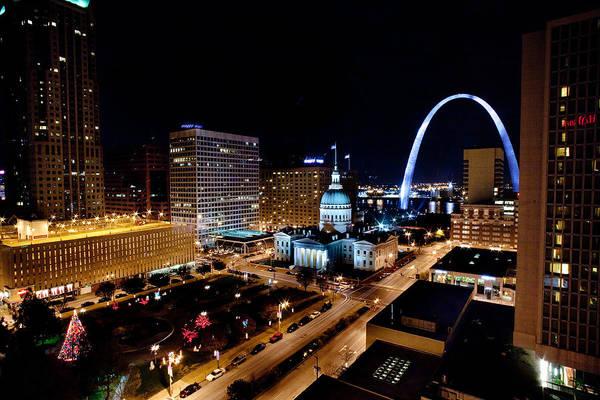 Photograph - Gateway Arch St Louis Night by John Magyar Photography