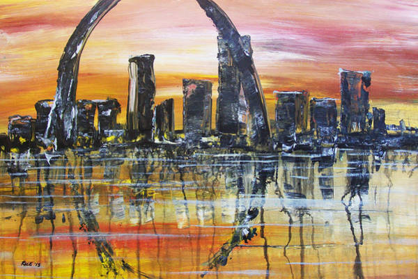 St Louis Arch Painting - Gateway by Chad Rice