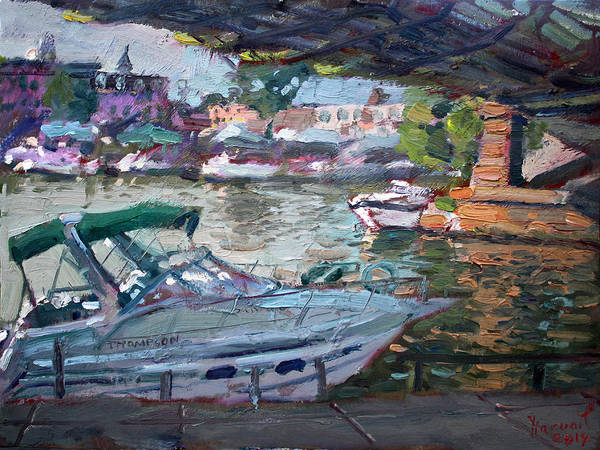 Tonawanda Wall Art - Painting - Gateway Harbor North Tonawanda by Ylli Haruni