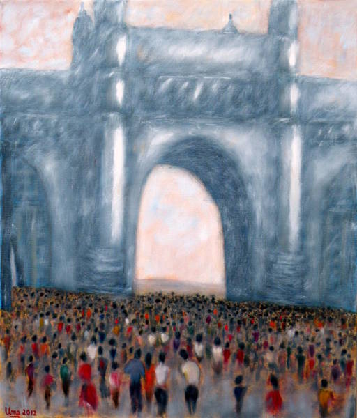 Mumbai Painting - Gateway Of India Mumbai 2 by Uma Krishnamoorthy